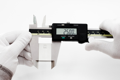 Calibration digital VERNIER with gage block